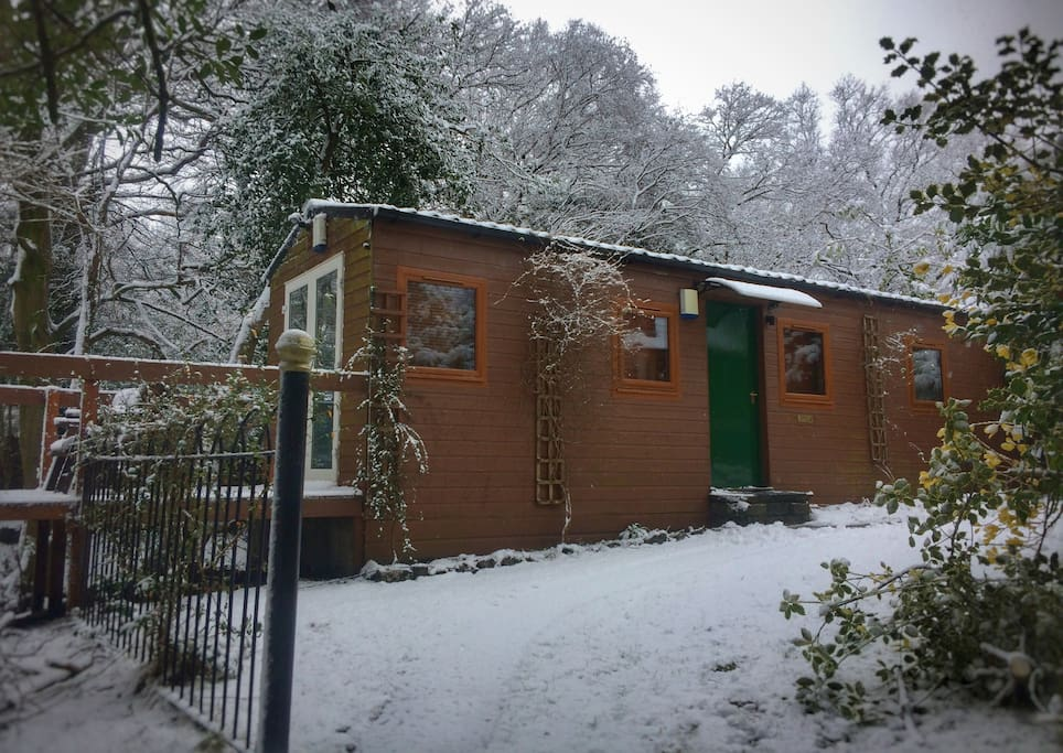 Stay warm in our cosy cottage even when it's snowing!