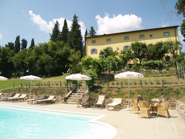 Villa with heated pool - Bibbiena - Villa