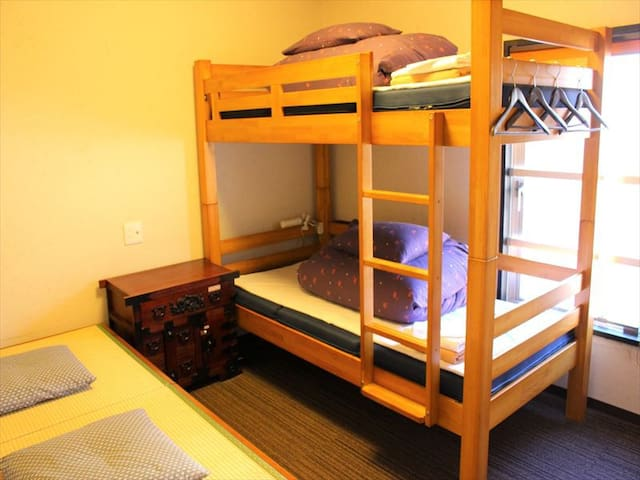 Hostel just 5 min from Sta./Twin room with bathtub