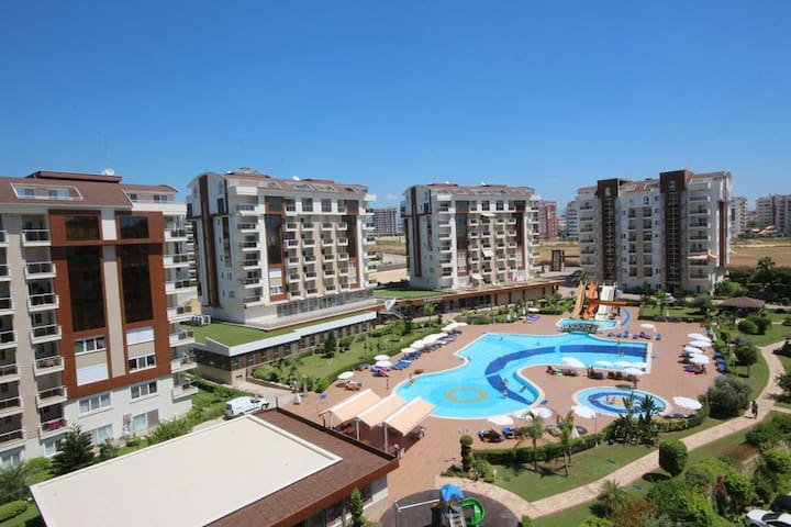 Apartments in Orion City complex near the sea.
