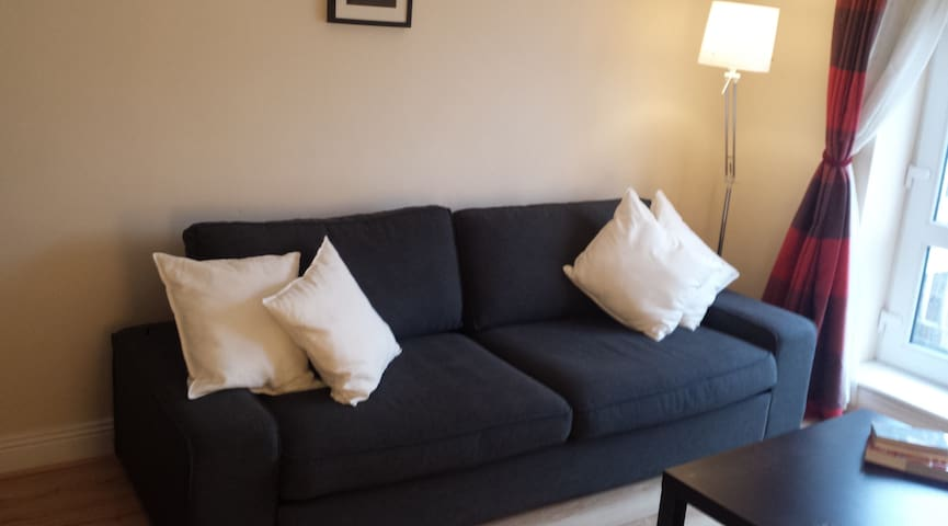 Sitting Room (with large sofa bed - Kivik 3 seater sofabed - very comfortable!)