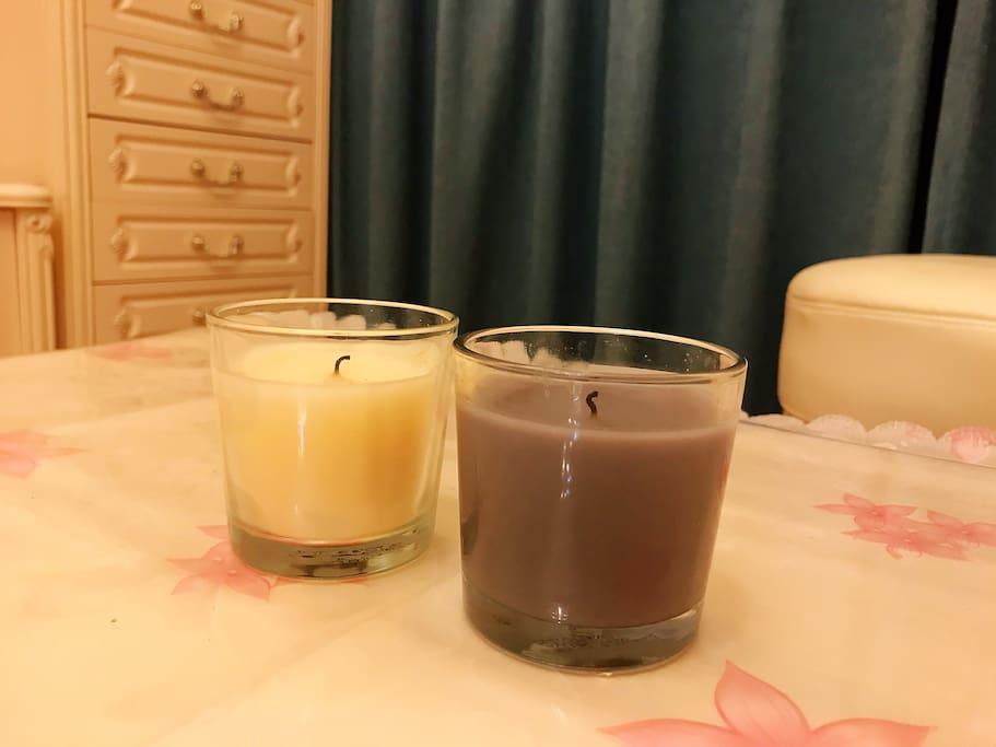 宜家香薰蜡烛,有调调的客官可以来一个烛光晚餐。