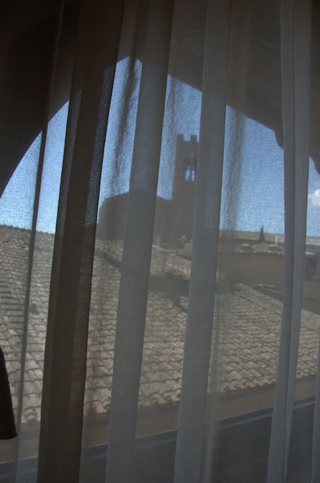 view from the bedroom on the church of San Domenico