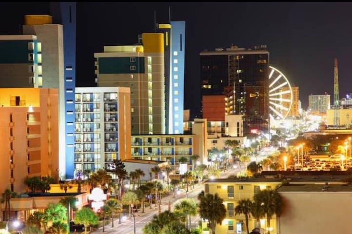 Myrtle Beach Oceanview condo downtown by sky wheel