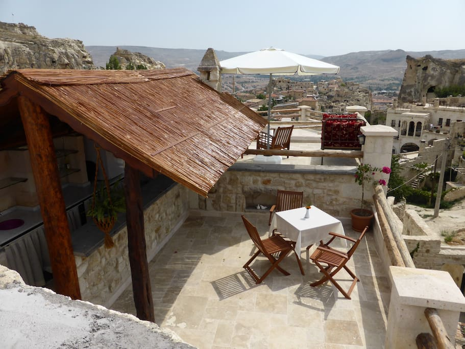 Our upper terrace bar and break fast area.