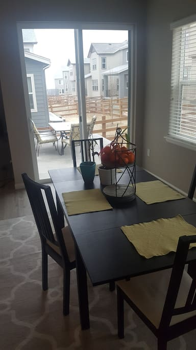 Kitchen table and patio