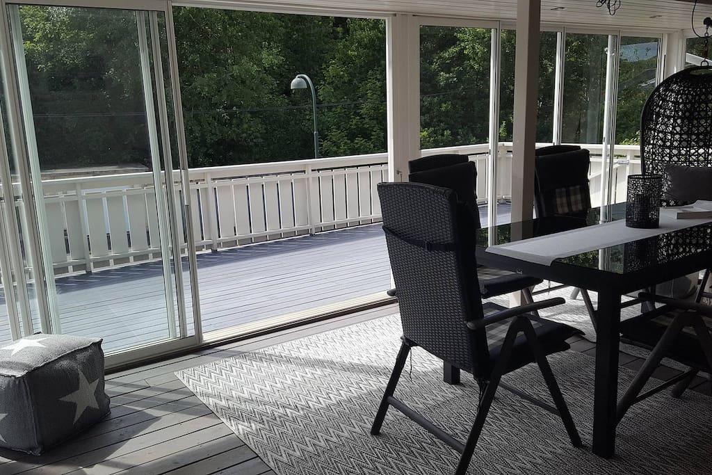Utestue og veranda