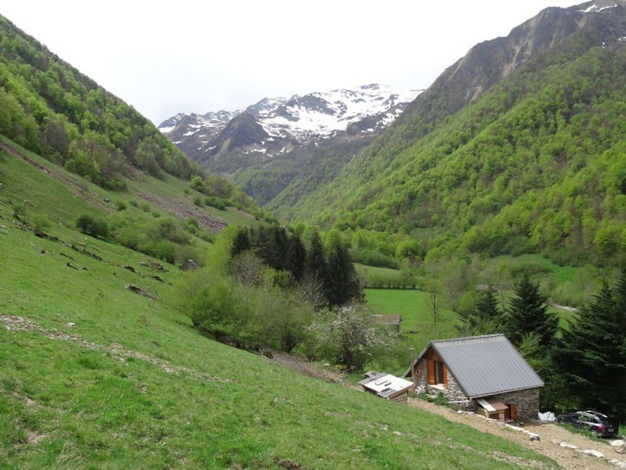 Superbe panorama sur le vallon d'Ossèse