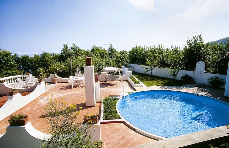 Modern villa with panoramic terrace with pool - Serrara Fontana