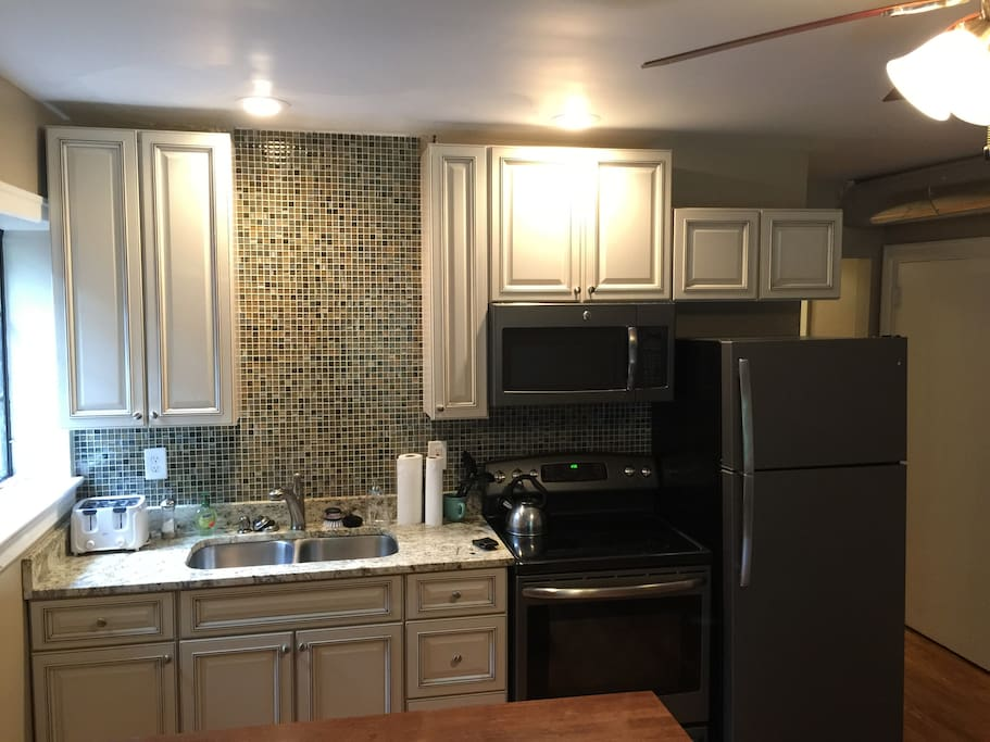 Newly remodeled kitchen is extremely functional for its size