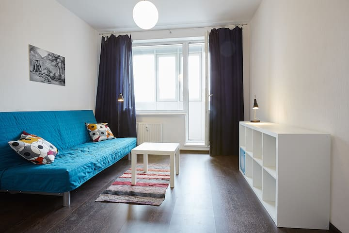 Сozy studio apartment in a new buil - Санкт-Петербург - Apartemen