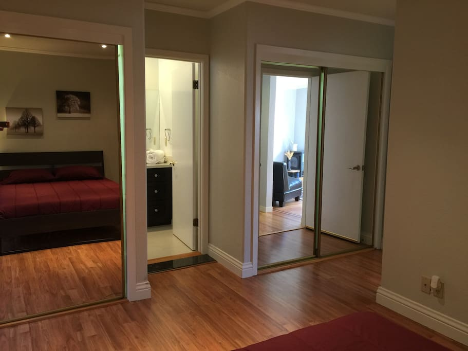 Master Bedroom with private bathroom/double closets