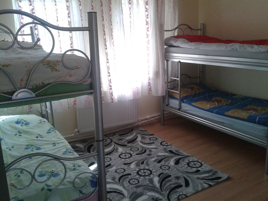 dormitory room with four bed.