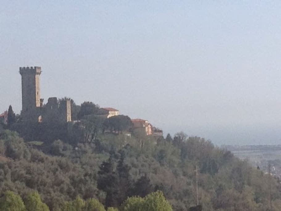 Scorcio panoramico di Castelnuovo Magra