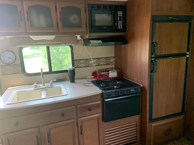 Family size travel trailer