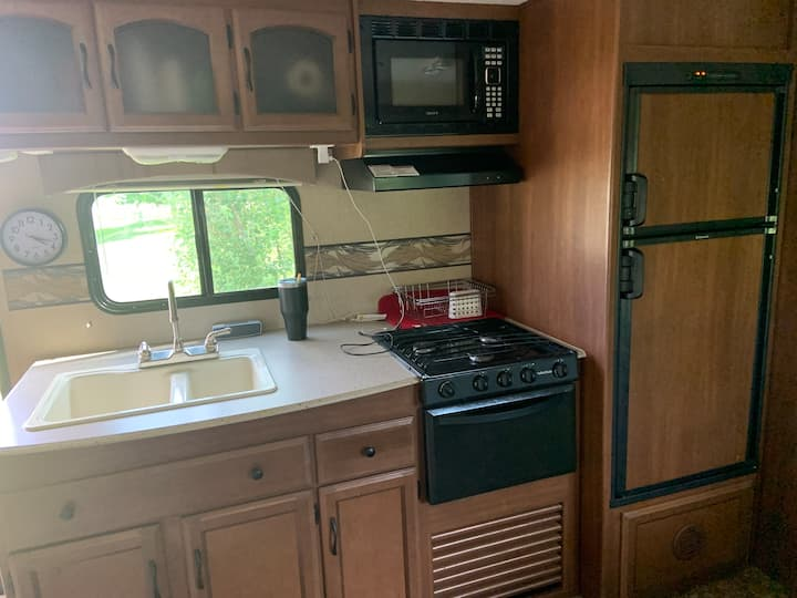 Family size travel trailer