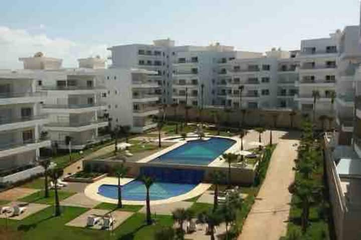 Luxury unit front of the beach 10min-Casablanca-