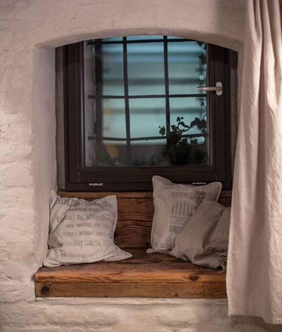 Gemütlich Fensternische in der Stralsunder Stadtmauer