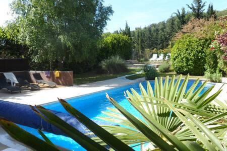 Villa & 2 piscines chauffées + abri - Mazan