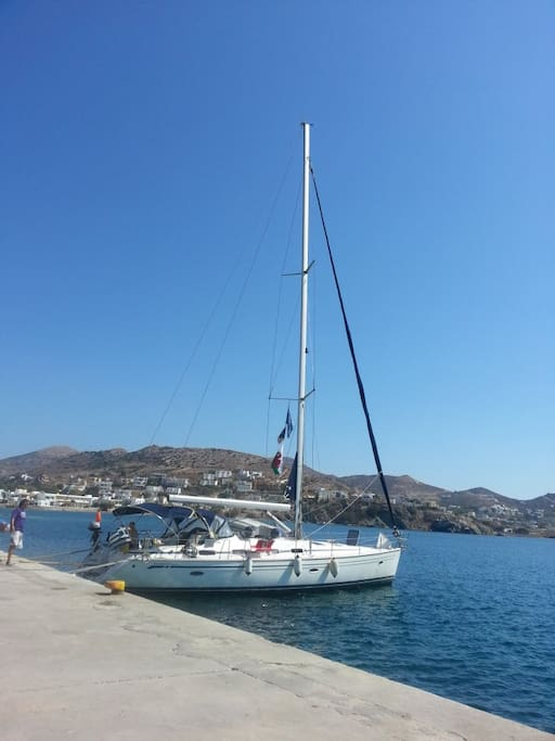 49 foot Bavaria sailboat with 5 cabins and 3 bathrooms.