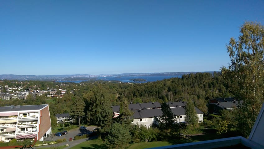 Oslofjord panorama, close nature. - Asker