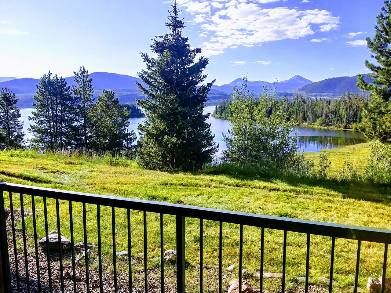 View from Living Room Sliding Glass Door. Walkout to common greenbelt with BBQ