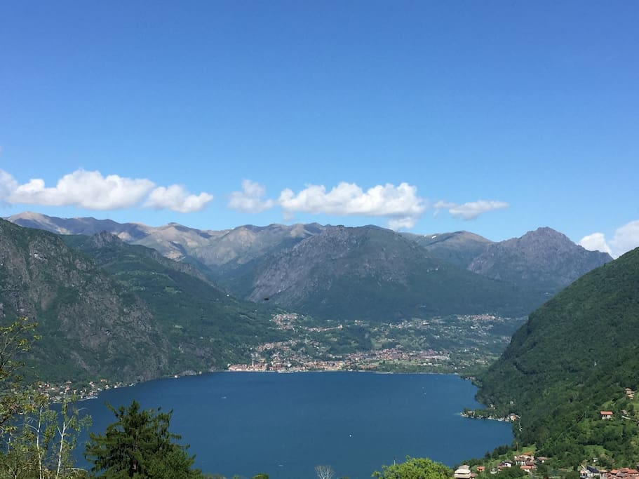 Overview on Lugano lake. The farm house is located on a vey ancient route, through the woods which links San pancrazio to Osteno city, on Lugano lake. It takes a 30/40 minutes trekking into the woods, close to rivers and waterfalls  to reach the lake.