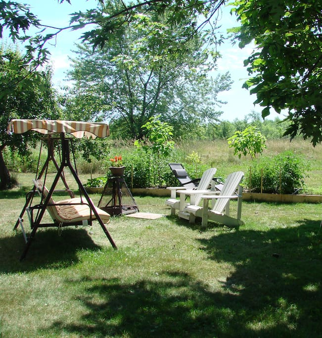 Feel free to enjoy the backyard and 27 acres of green