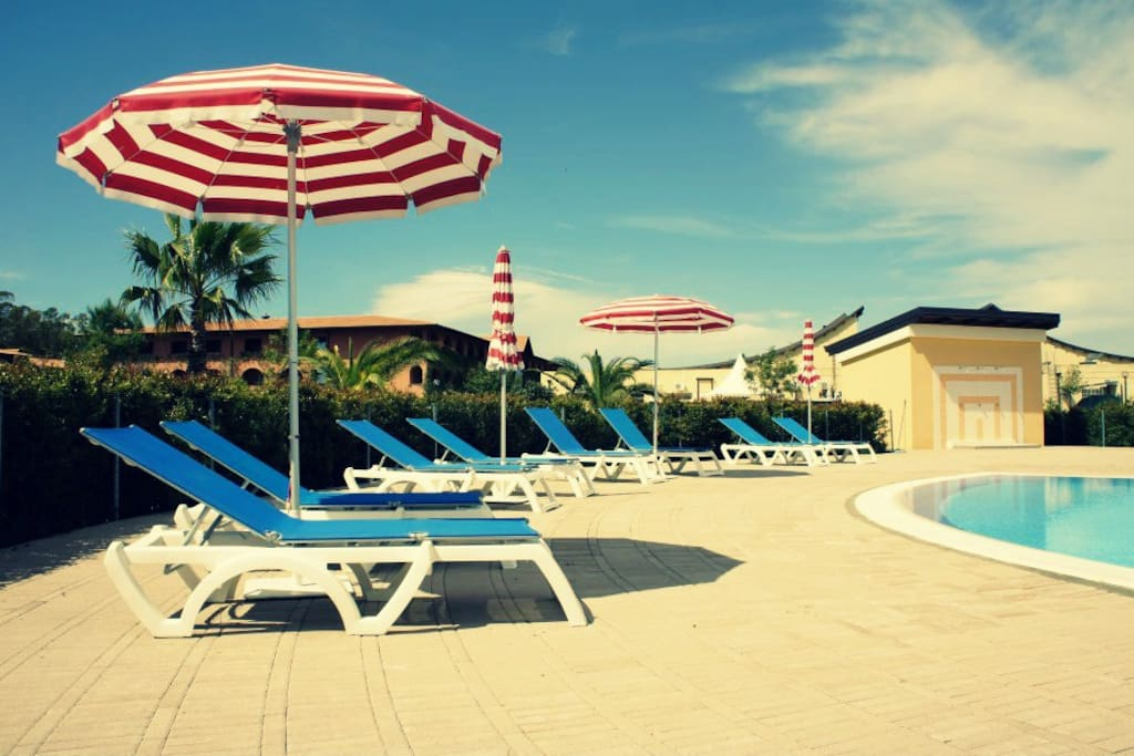 One of 2 swimming pools at Pizzo Beach