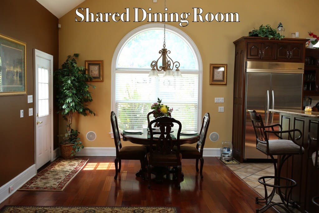 Small dining table, also have larger dining room table that seats 8,