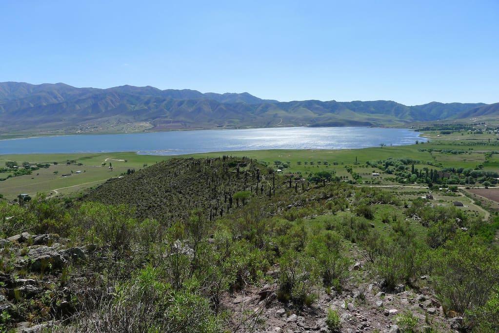 Caminata a 10-15 minutos del hostal camping. Ruinas y vista espectacular al valle de Tafí.