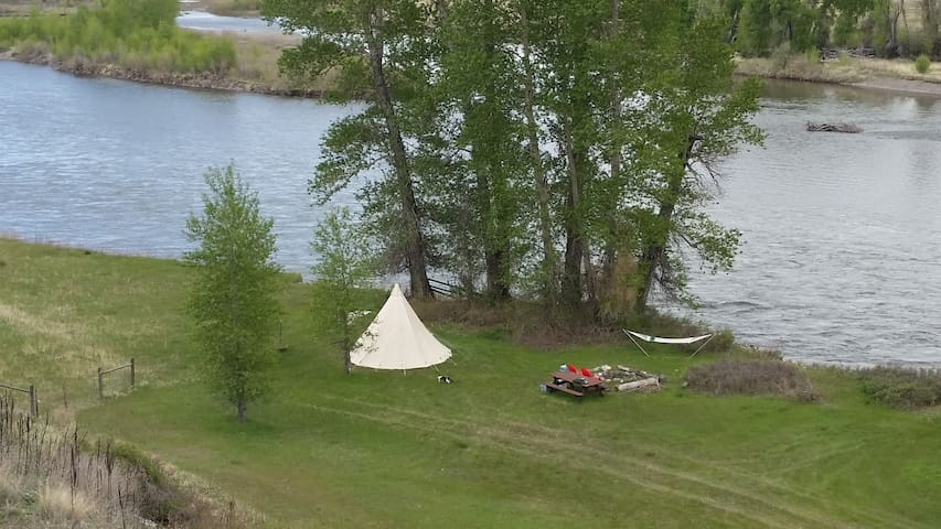 Tipi on the Yellowstone River - Livingston