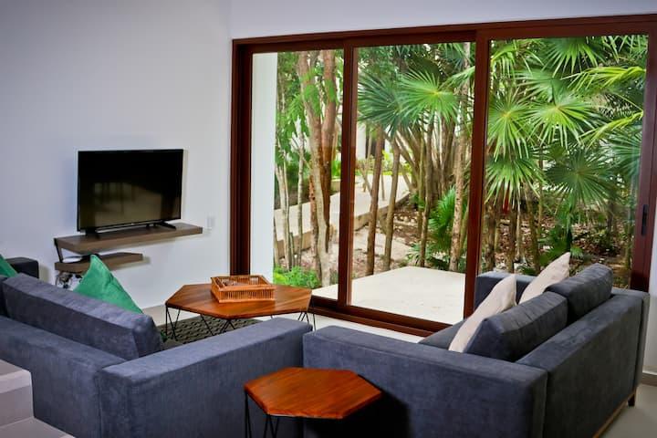 Beach home Akumal & beach club with pool 6px