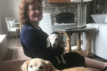 Visiting canine friends in NC; no pets in my home due to allergies.