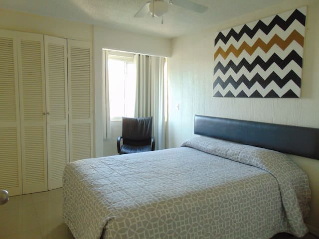 Second bedroom also with Queen size bed.  Large closet