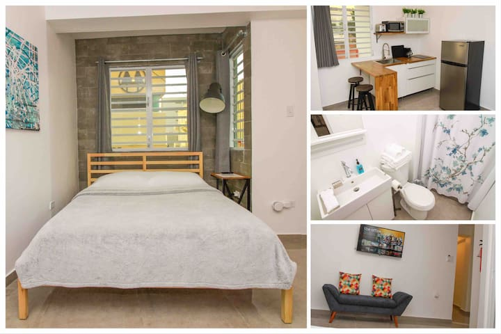 Modern loft for 3 in the heart of Mayagüez