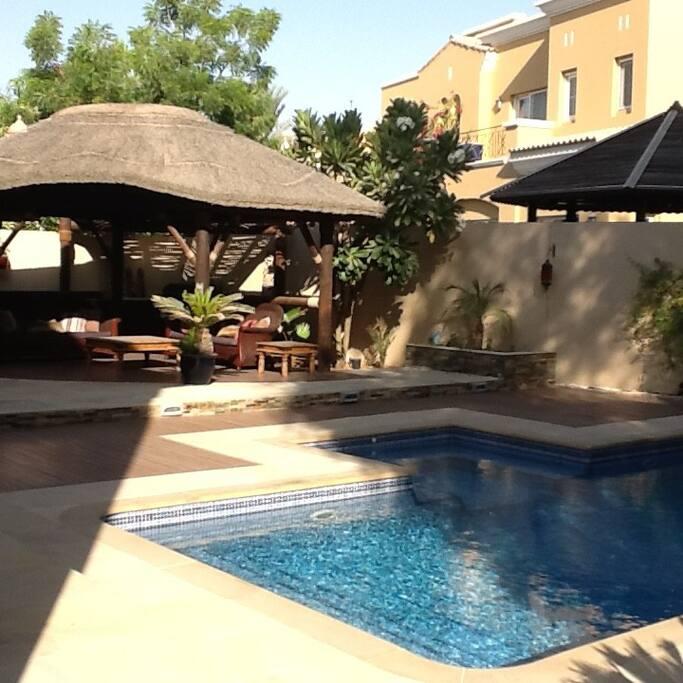 Pool & Gazebo - with BBQ area