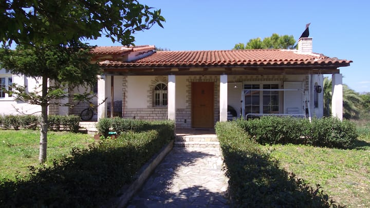 the beautiful garden house