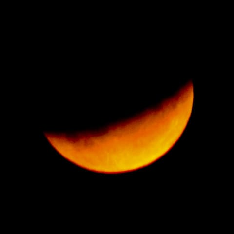 July 17th Eclipse from our balcony.