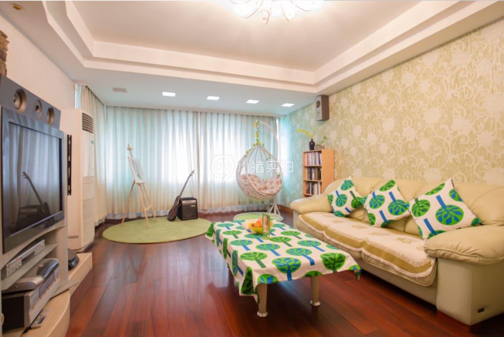 舒适宜家风格客厅。休闲艺术小天堂。