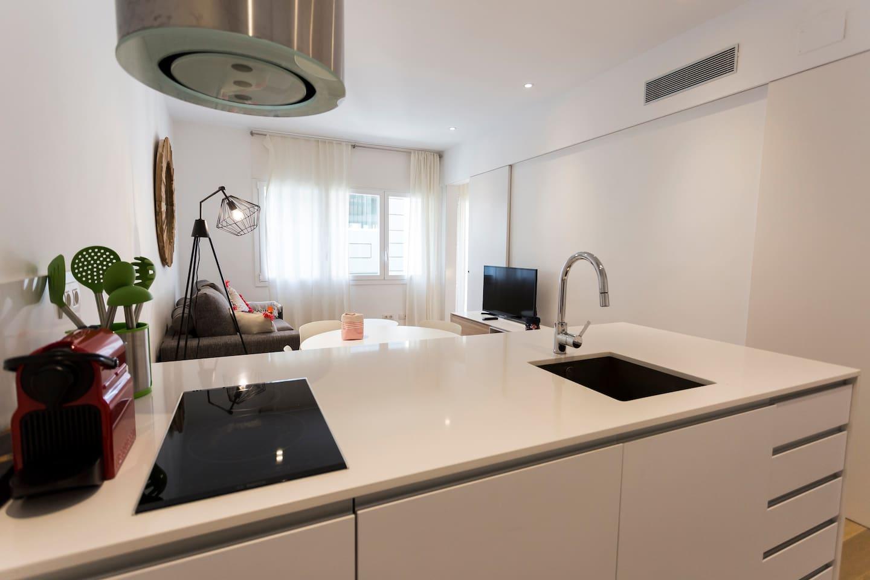 Moderno apartamento en el barrio de Gracia