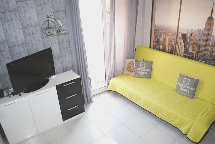 Beautiful room with terace,5min to beach