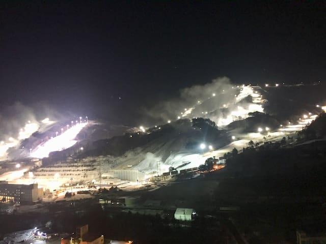 ❤️Pyeongchang Olympics Slopes View (Bunkbed#1)