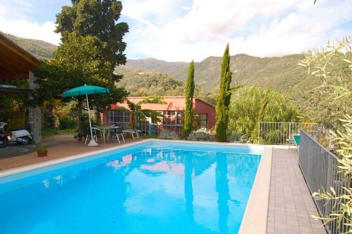 alloggio con piscina - Dolcedo - Apartamento