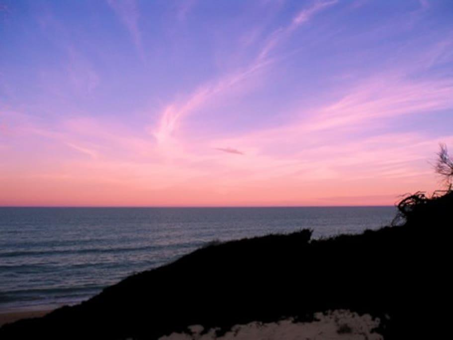 Sunset over 90 Mile Beach
