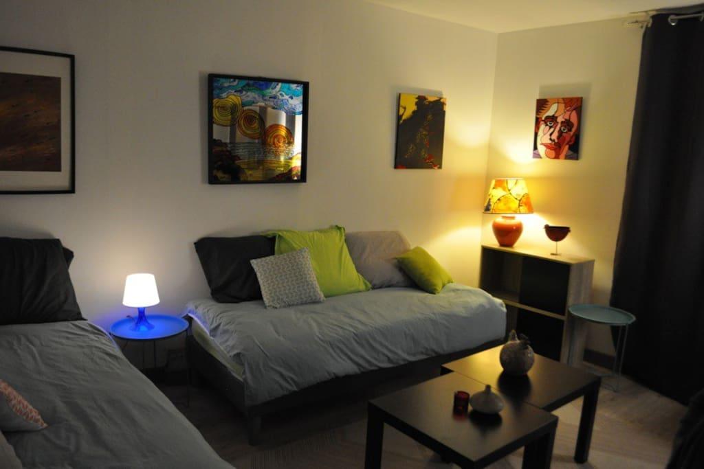 chambre salon appartement