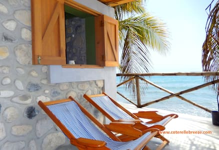 Romantic Ocean Room, Balcony over Ocean - Jacmel - Chalet
