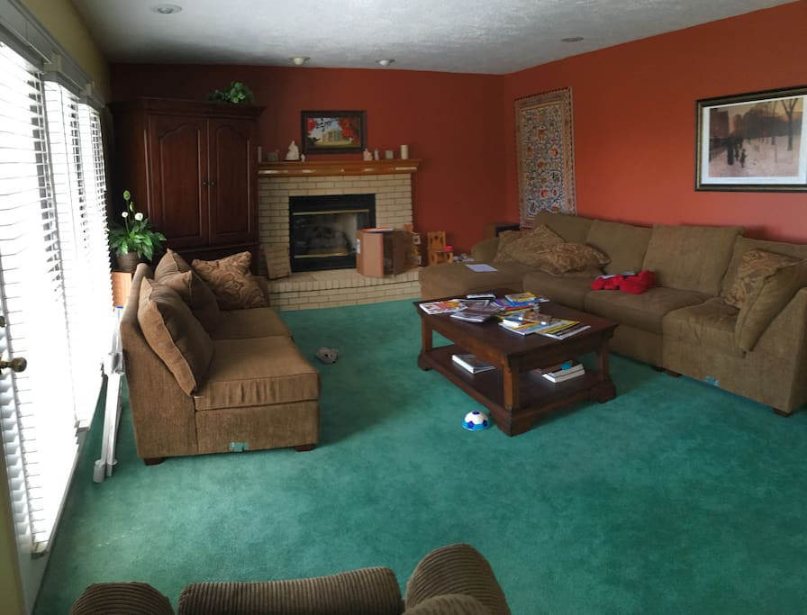 Lots of space including this family room connected to the kitchen