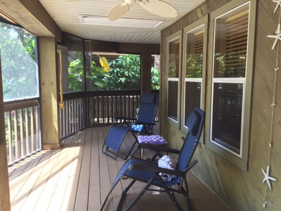 Exterior - screened in porch
