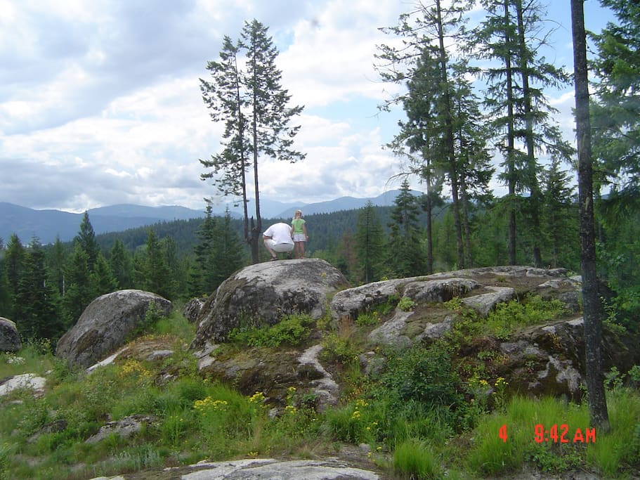 Ginormous boulders are placed to balance perfectly in this magical place